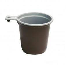 Чашка кофейная 200 мл, бело-кор. ЭКОНОМ (МОПС), 100 шт