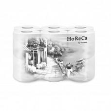 Туалетная бумага Plushe HoReCa, 2сл*12 рул., 13,68м, белая, с ручкой, 8  в уп