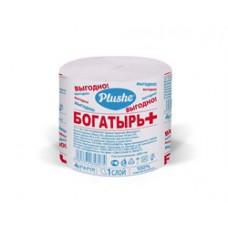 Туалетная бумага Богатырь +, СТИКЕР, 1 слой. серая, б/втулки, 30 в уп
