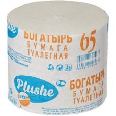 Туалетная бумага Богатырь, 1 слой, серая, б/втулки, 30 в уп