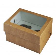 Упаковка под маффины на 4 штуки (160х160х100мм)