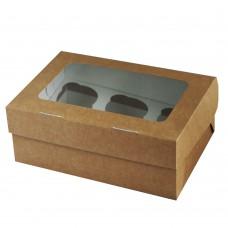 Упаковка под маффины на 6 штук (250х170х100мм)