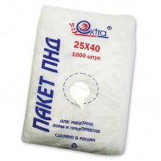 Пакет ПНД 25х40, 8 мкм, EXTRA, 1000шт