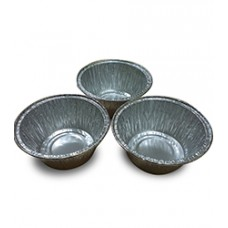 Алюминиевая форма круглая 100мл, d80x37, 100 шт