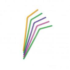 Трубочки для коктейля с изгибом, цветные, 210мм/250шт