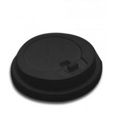 Крышка d90мм с закрытым питейником черн., 100 шт