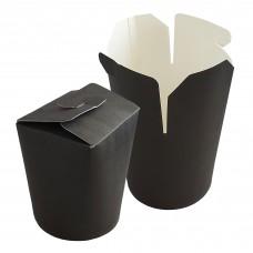 Контейнер бумажный под лапшу 500 мл. черный