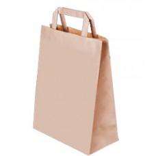 Пакет крафт с плоскими ручками, 240*140*290