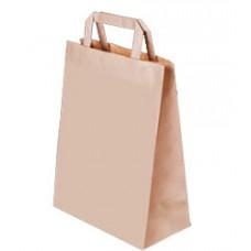 Пакет крафт с плоскими ручками, 350*150*450