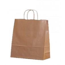 Пакет крафт с кручеными ручками, 260*140*350