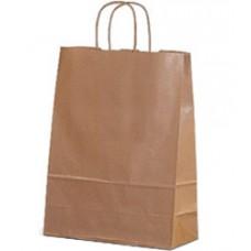 Пакет крафт с кручеными ручками, 350*150*450