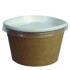 Контейнер крафт (салатник) 330мл, 50 шт