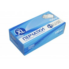 Перчатки винил. неопудр  (XL), 100 шт/упак