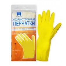 Перчатки хозяйственные латексные раз. М