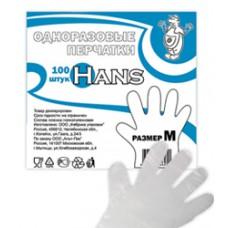 Перчатки одноразовые ПЭ (M) 100 шт/упак