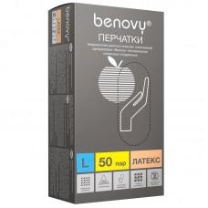 Перчатки латекс опудр н/с (L) 100 шт/уп