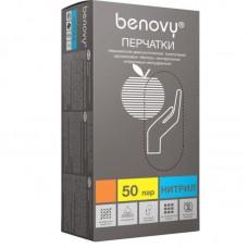 Перчатки нитрил Benovy р.S гол. 3,5гр (50пар/уп)